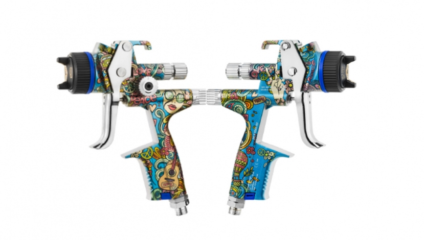 SATA lança pistola inspirada no Festival de Woodstock