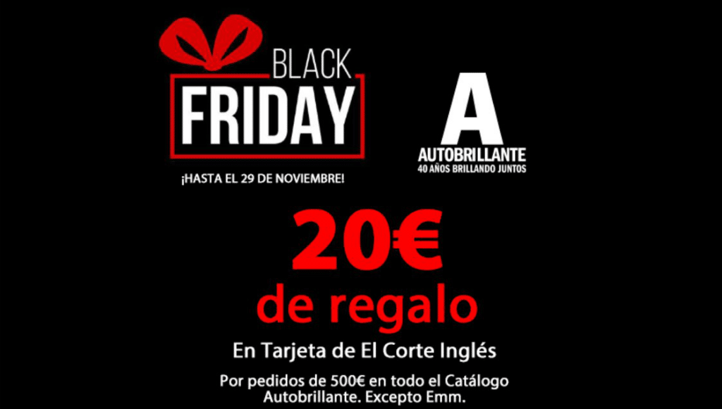 Autobrillante adere à campanha Black Friday até 29 de novembro