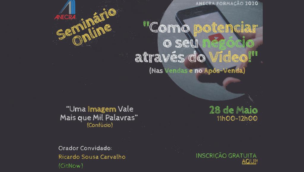 Próximo seminário digital gratuito da ANECRA realiza-se a 28 de maio