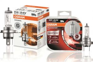 Lâmpadas OSRAM para camião: elevado desempenho para profissionais dos 24V