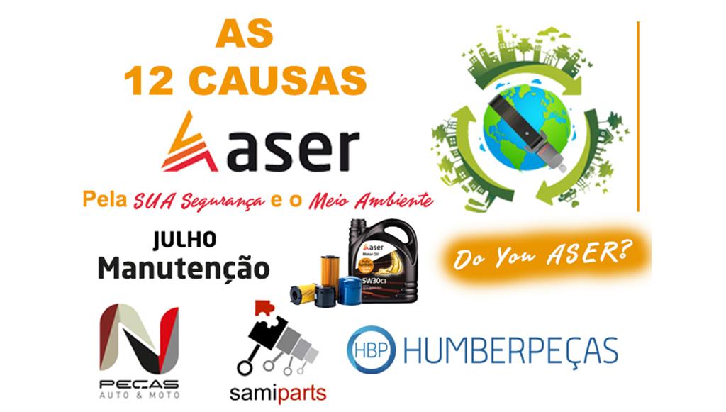 As 12 causas da ASER – julho, mês de manutenção