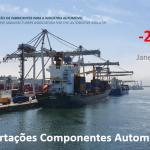 Exportações de componentes automóveis mantêm queda