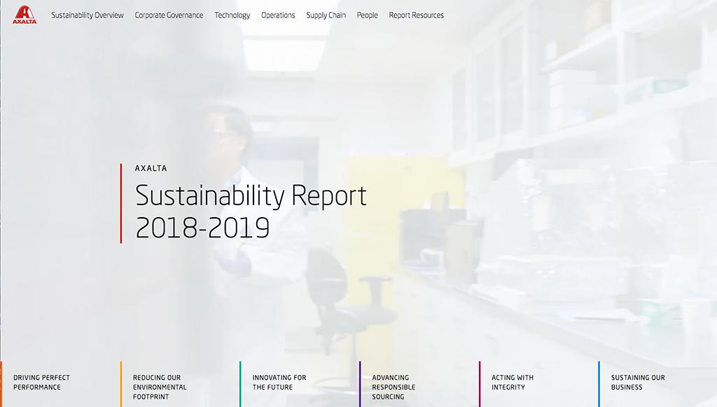 Axalta lança relatório de sustentabilidade