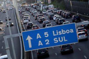 Congestionamento automóvel em queda