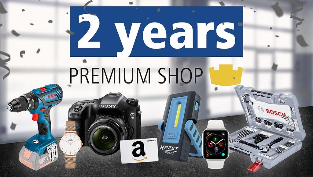 Dois anos Premium Shop da DT Spare Parts
