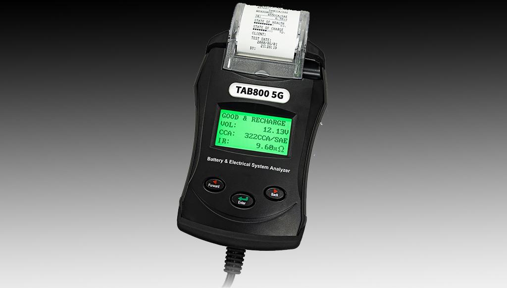 TAB apresenta aparelho de teste baterias TAB800 5G